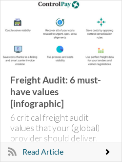 Freight Audit: 6 must-have values [infographic]