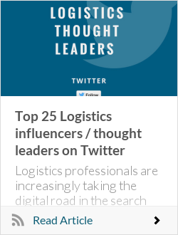 Top 25 Logistics influencers / thought leaders on Twitter