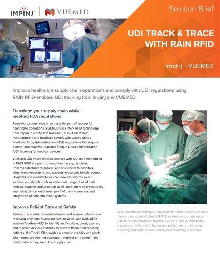 UDI Track & Trace with RAIN RFID