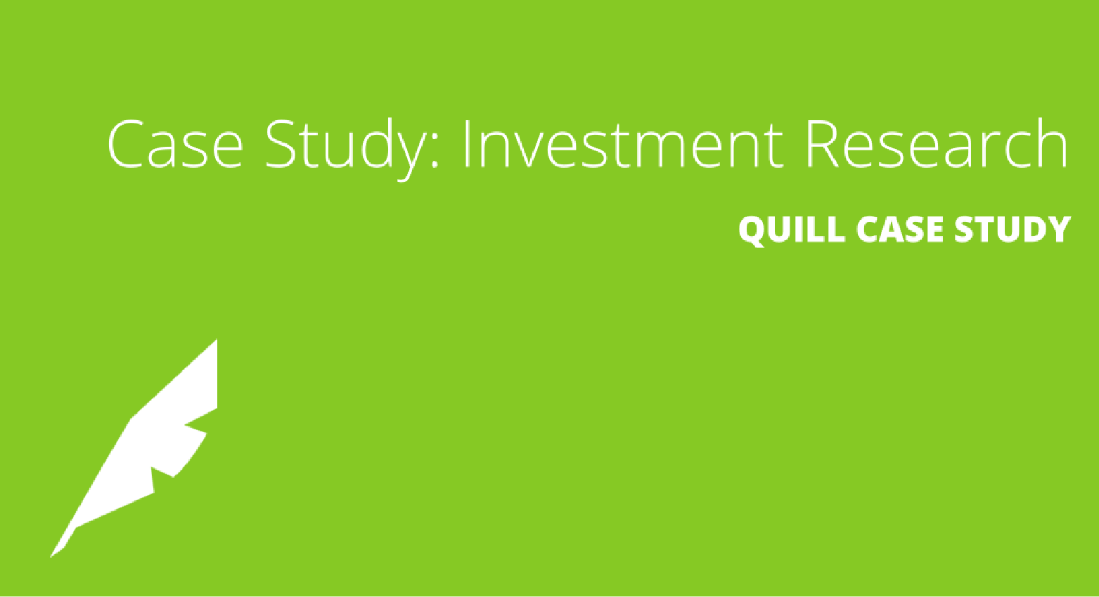 Building a Wealth of Investment Research Coverage [Financial Services Case Study]
