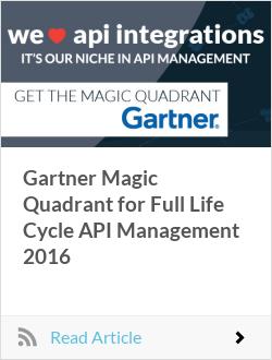 Gartner Magic Quadrant for Full Life Cycle API Management 2016