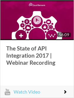 The State of API Integration 2017 | Webinar Recording