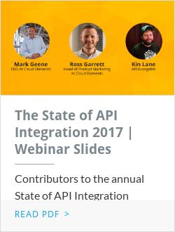 The State of API Integration | Webinar Slides