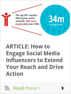 ARTICLE: How to Engage Social Media Influencers to Extend Your Reach and Drive Action