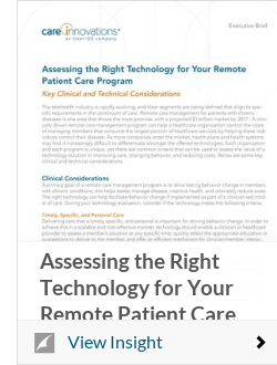 Assessing the Right Technology for Your Remote Patient Care Program
