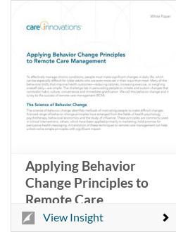 Applying Behavior Change Principles to Remote Care Management
