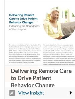 Delivering Remote Care to Drive Patient Behavior Change