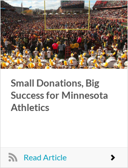 Small Donations, Big Success for Minnesota Athletics