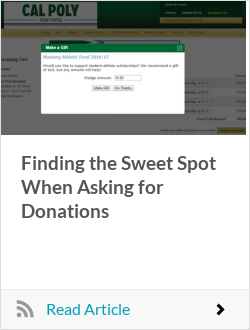 Finding the Sweet Spot When Asking for Donations