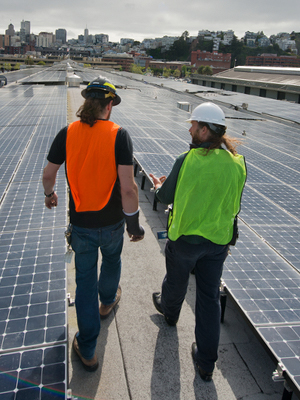 The steps of a commercial solar installation