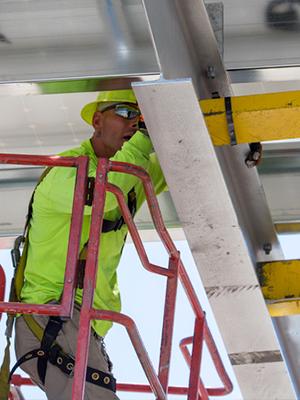 Commercial solar panel installation process