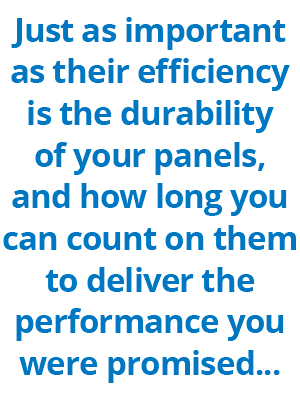 Commercial solar panel durability is very important