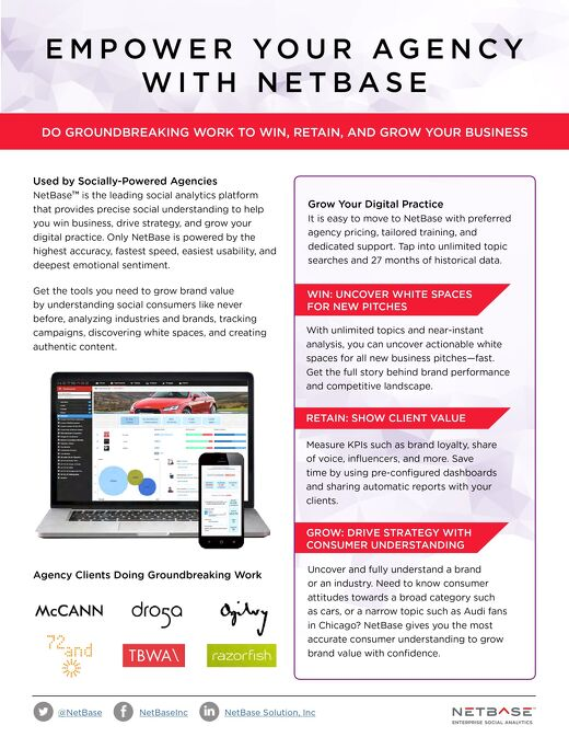 Empower Your Agency with NetBase