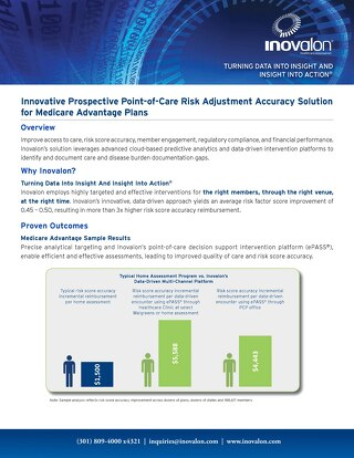 Innovative Prospective Point-of-Care Risk Adjustment Accuracy Solution for Medicare Advantage Plans