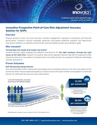 Innovative Prospective Point-of-Care Risk Adjustment Accuracy Solution for QHPs