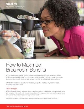 How to unleash maximum breakroom benefits
