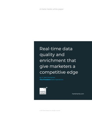 Real-time data quality and enrichment that give marketers a competitive edge