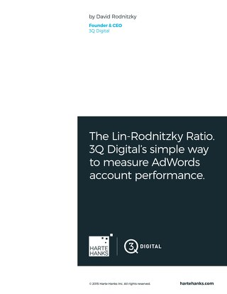 The Lin-Rodnitzky Rato.  3Q Digital's Simple Way to measure AdWords Account Performance