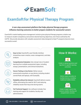 ExamSoft for Physical Therapy Schools