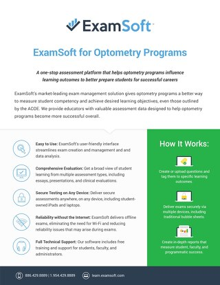 ExamSoft_Optometry_OnePager