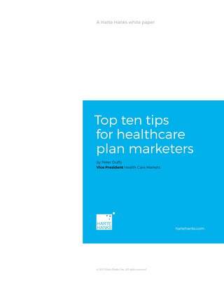 Top Ten Tips for Healthcare Plan Marketers