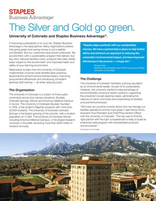 Moving to green cleaning solutions - The University of Colorado's story