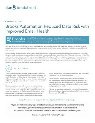 Brooks Automation Reduced Data Risk with Improved Email Health