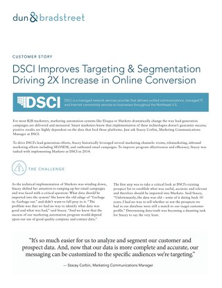 DSCI Improves Targeting & Segmentation Driving 2X Increase in Online Conversion