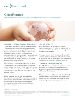 Decrease the Risk and Increase Email Deliverability with GlobalProspex