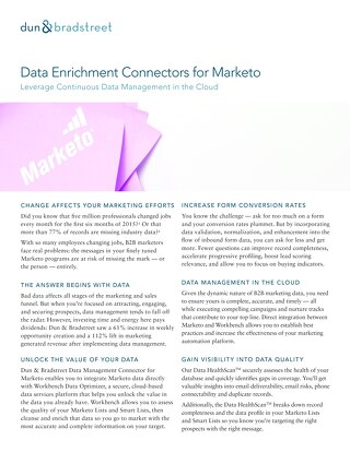 Data Enrichment Connectors for Marketo