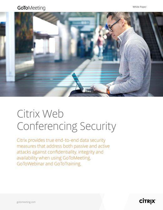 Citrix Web Conferencing Security