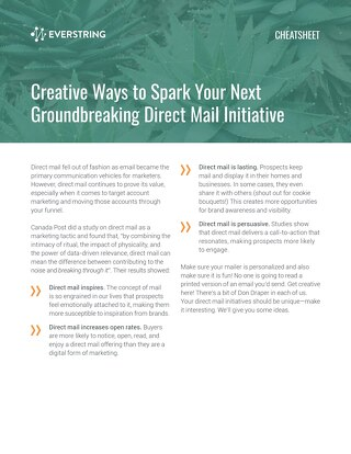 Creative Ways to Spark Your Next Groundbreaking Direct Mail Initiative