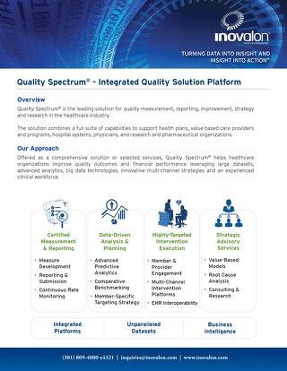 Quality Spectrum™ - Integrated Quality Solution Platform