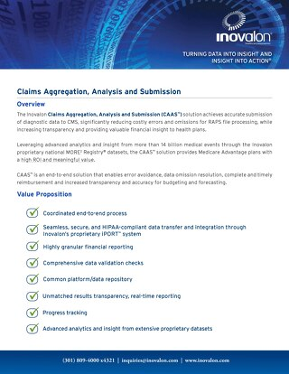 Claims Aggregation, Analysis and Submission