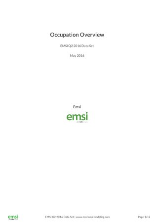 Emsi Diversity Recruiting Sample Reports