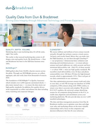 Optimize Your Data and Data Management Practices with Help from Dun & Bradstreet