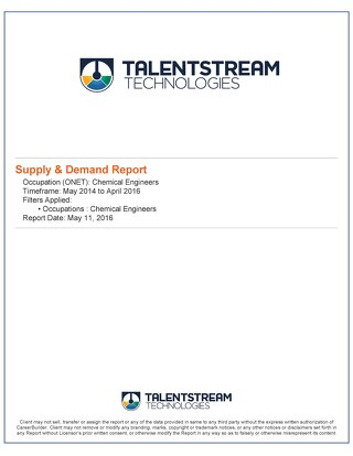 Supply and Demand Sample Report