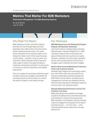 Metrics That Matter For B2B Marketers