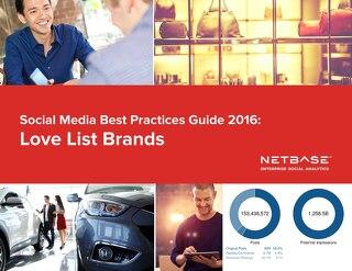 Social Media Best Practices Guide 2016: Love List Brands