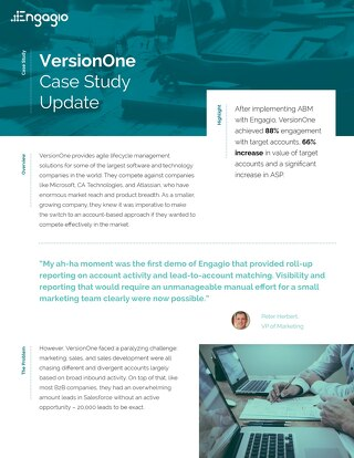 Engagio Case Study | VersionOne