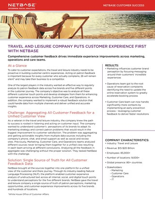 Travel and Leisure Company Puts Customer Experience First with NetBase