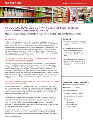 A Food and Beverage Company Uses NetBase To Drive Customer-Focused Investments