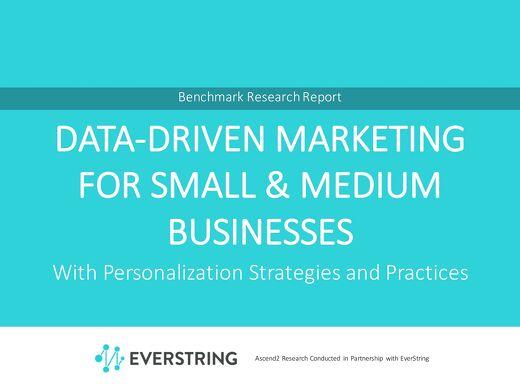 Data-Driven Marketing For Small & Medium Businesses