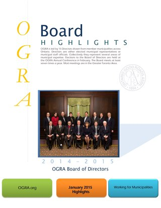 OGRA Board of Directors Highlights January 2015