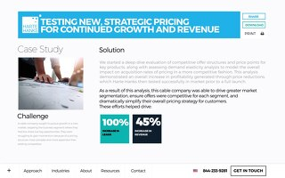 Testing new strategic growth for pricing and revenue