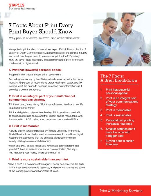 7 Facts About Print Every Print Buyer Should Know