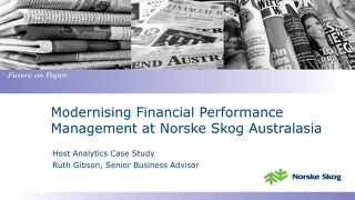 Norske Skog Melbourne Finance Summit