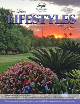 Sun Lakes Lifestyles November 2016