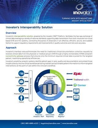 Inovalon Interoperability Solution