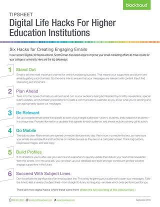 Tip Sheet: Engaging Email Marketing